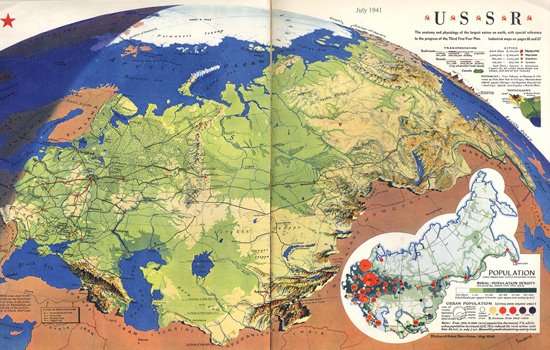USSR July 1941 by Richard Edes Harrison