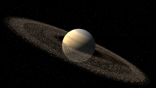 The Position of Saturn in the Night Sky 2014 to 2022